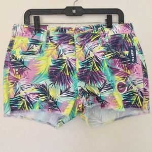 Old Navy The Diva Floral Palm Print Shorts NWT